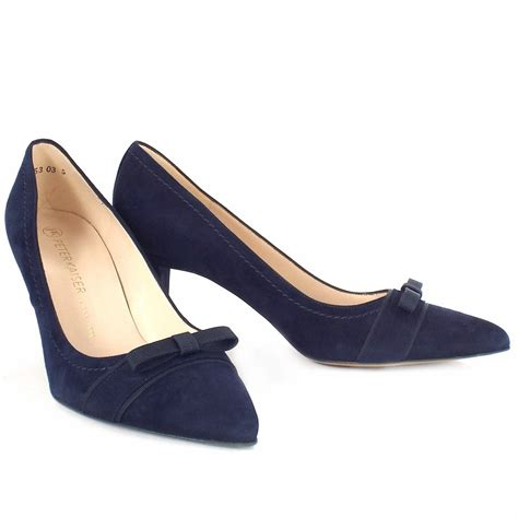 navy shoe kaiser vermala pointed toe court shoes in
