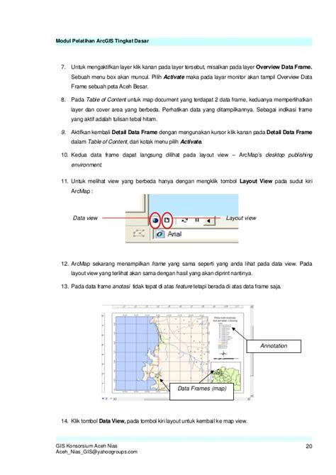 fungsi layout pada arcview modul arc gis tingkat dasar