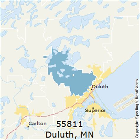 zip code map duluth mn best places to live in duluth zip 55811 minnesota