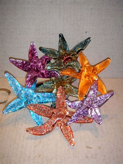 made glass home decor quot starfish platter by
