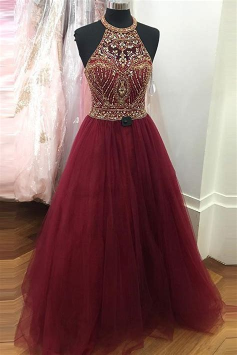 prom dressesball gown evening gownswine red prom dresses