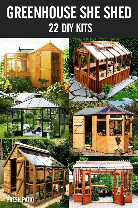 greenhouse  shed  awesome diy kit ideas