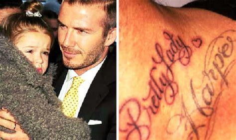 beckham family tattoo cute david beckham gets a new tattoo for daughter pretty