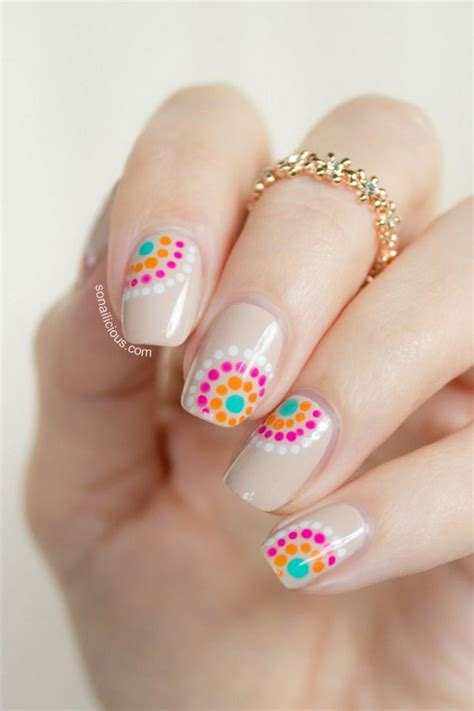 cute pattern nails 25 cute polka dot nail designs hative