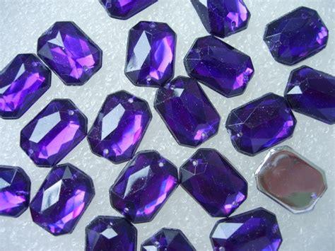 Rhinestone Boxy 10x14mm Purple rhinestones gems angeltrim supply sequin bead applique venice applique frog button