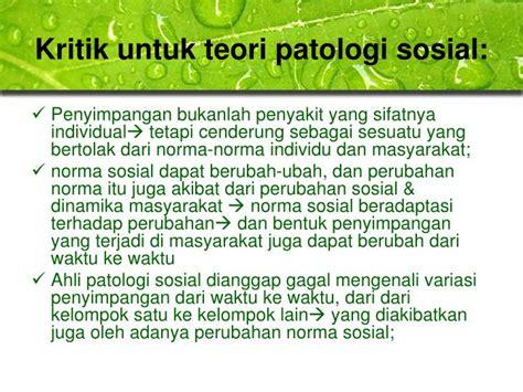Patologi Sosial 1 ppt teori sosiologi perilaku menyimpang klasik