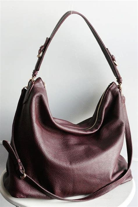 hobo leather bags large burgundy leather hobo bag oxblood shoulder bag bymishka purses leather