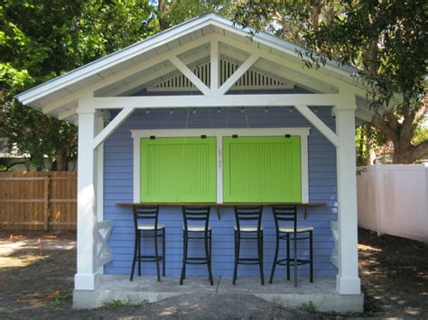 palm harbor snack shack tropical garage and shed