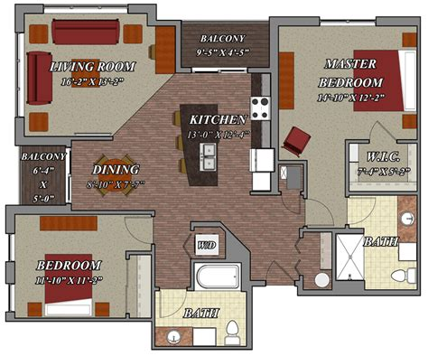 two bedroom two bathroom apartments 2 bedroom 2 bathroom style d1 lilly preserve apartments