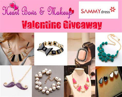Giveaway International - heart bows makeup sammydress present international valentine s day giveaway