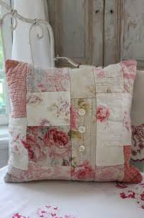 shabby chic pillow couture pinterest patchwork