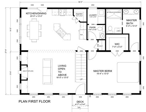 master floor plan colonial house plans first floor master