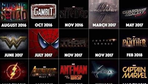 film marvel dc 2016 all of the superhero films coming out until 2020 screengeek
