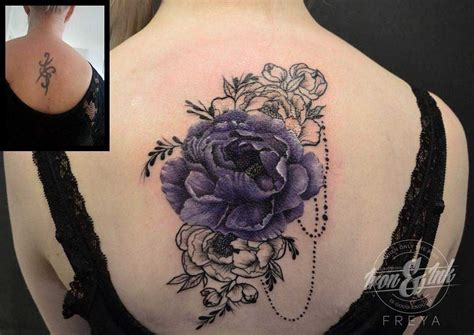 flower cover up tattoos flowers cover up on back cover up tattoos