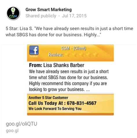grow marketing lisa barber review for gsm1