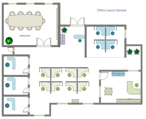 floor layout of the office building plan software edraw