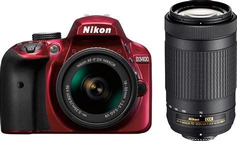 camara fotograficas nikon nikon d3400 dslr with af p dx 18 55mm g vr and 70