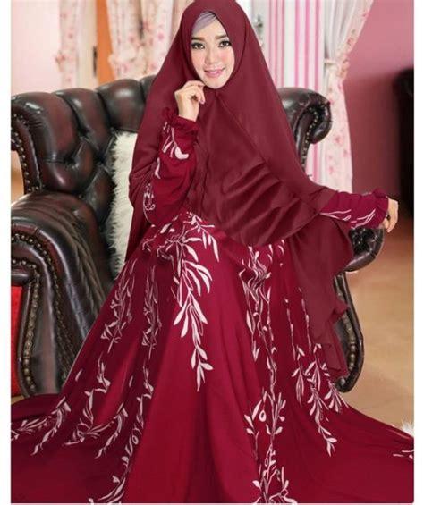 Maxi Dress Gamis Monalisa busana muslim monalisa motif padi butik jingga