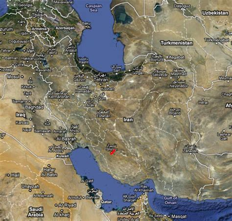 satellite map of iran interactive iran kitten 2012