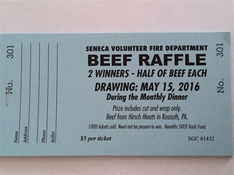 ticket prices for truck 2016 beef raffle tickets are now on sale seneca