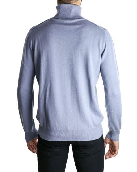 mens light blue turtleneck sweater lanvin light blue turtleneck sweater in blue for men lyst