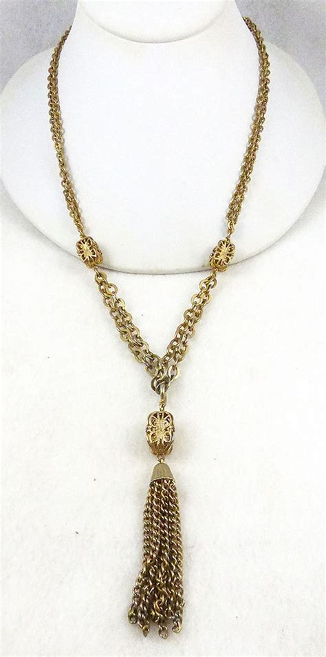 emmons gold tassel necklace garden collection