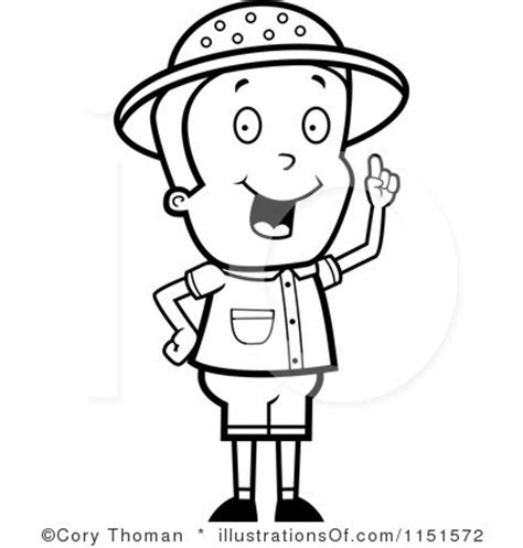 safari person coloring page safari man clipart 20