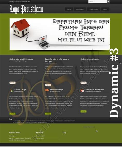 contoh desain layout company profile real estate poster