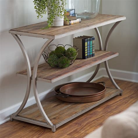 Sofa Tables by Belham Living Edison Reclaimed Wood Console Table
