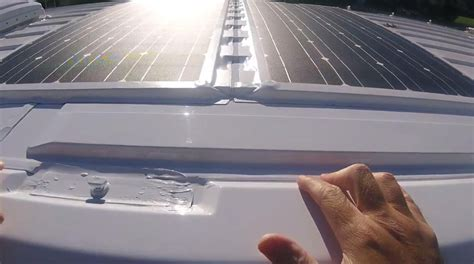 rv roof install how to install solar panel on rv cer
