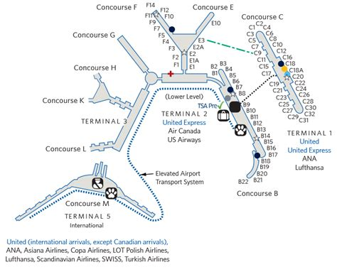 ord terminal map chicago o hare int l ord airport map united airlines