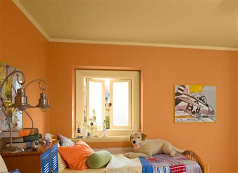 travis room paint colors benjamin soft pumpkin for walls and golden honey for ceiling