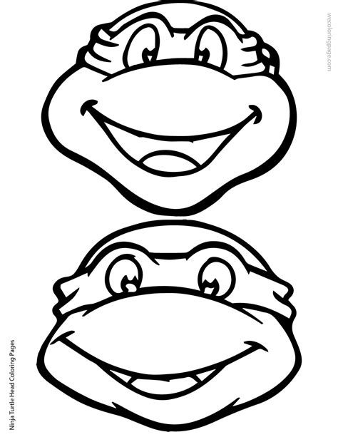 ninja turtle happy birthday coloring page ninja turtle head coloring page 02 01 elias pinterest