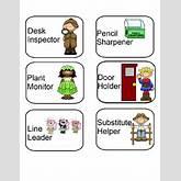 Classroom Helpers Icons   TeacherLingo.com