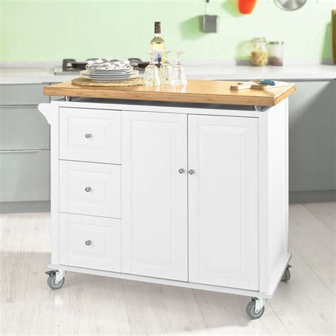 sobuy new luxury kitchen island cart kitchen cabinet