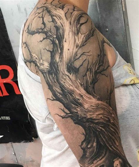 dead tree tattoo designs best 25 dead tree ideas on half sleeve