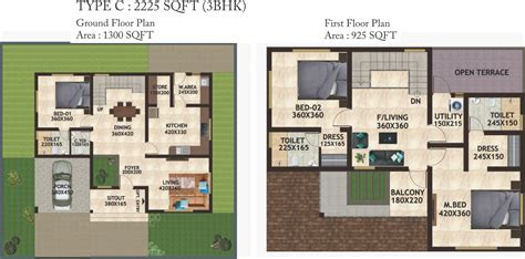 the petals floor plan 2225 sq ft 3 bhk 4t villa for sale in favourite homes the