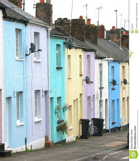 pastel homes stock image image of building streetl 166031