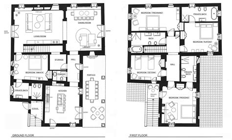 ground and first floor plans photo gallery floor plans podere palazzo your