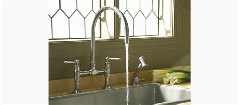 kohler k 7337 hirise two hole deck mount bridge kitchen standard plumbing supply product kohler k 7337 4 s