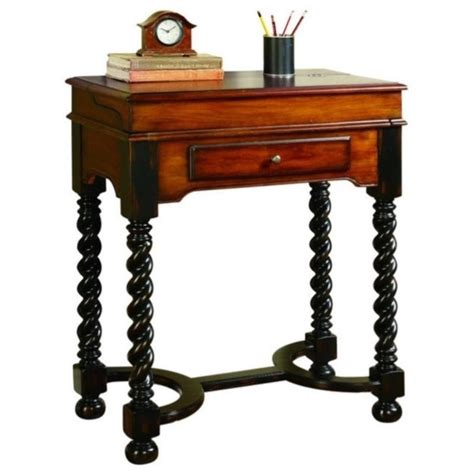 seven seas desk furniture seven seas jacobean twist leg flip top