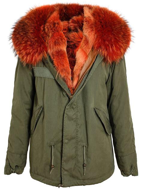 Rd Jaket Parka Army green parka with fur covu clothing