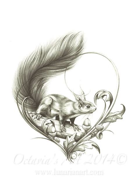 squirrel tattoos squirrel temporary curious squirrel by