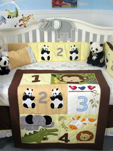 nursery bedding sets australia soho 1234 jungle friends baby crib complete nursery bedding set ebay