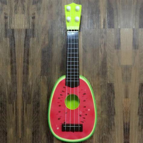 ukulele gitar mainan gambar buah buahan jakartanotebook