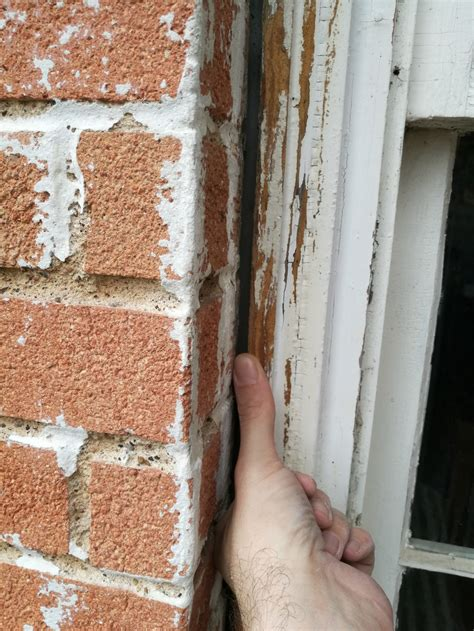 gap between and wall how to fill this gap between window and brick wall too