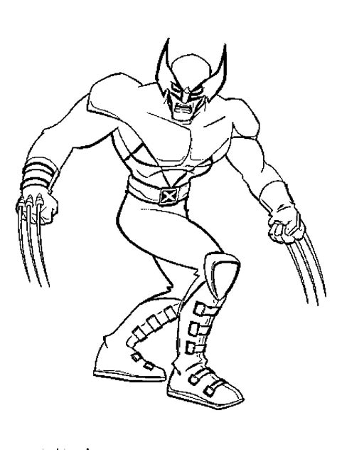 wolverine color pages az coloring pages