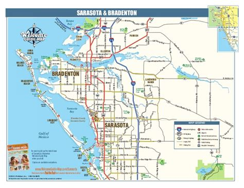 sarasota florida map a map of beautiful sarasota