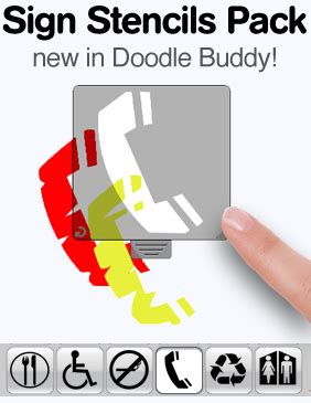 how to use stencils on doodle buddy doodle buddy pinger s