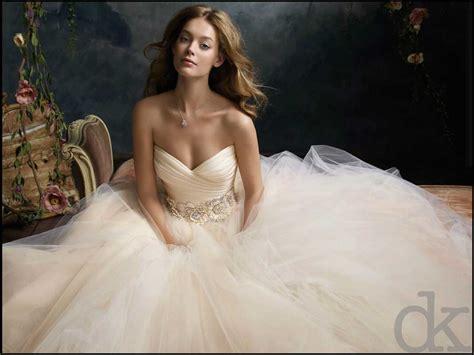 or blush colored wedding gown trend debrakrein com